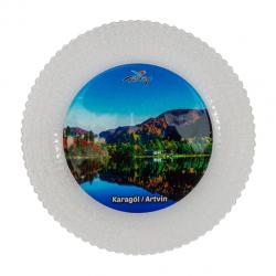 Hediyelik Cam Tabak - Karagöl