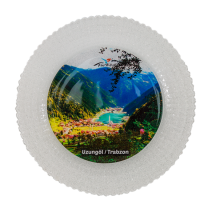 Hediyelik Cam Tabak - Uzungöl