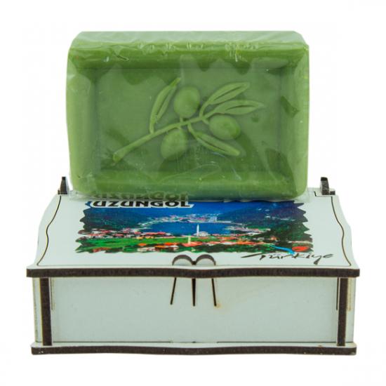 Bitkimix Özel Ahşap Kutulu Hediyelik Sabun - Ayder Hatırası